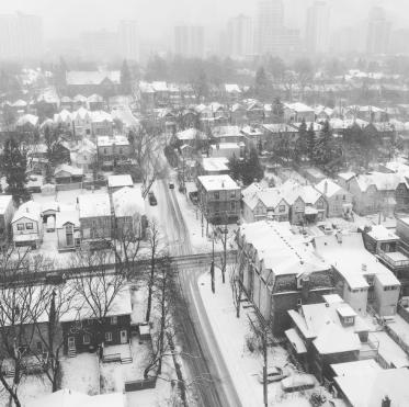 Snowy Toronto - Yonge and Eglinton